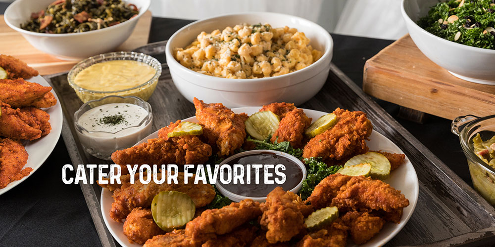 Cater your favorites.