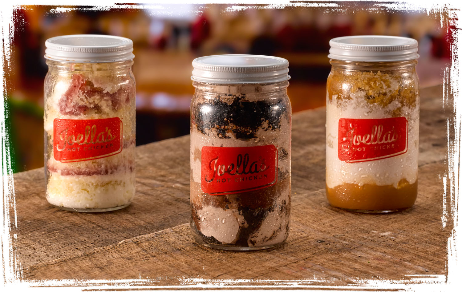 Joella's Cookies & Cream, Strawberry Shortcake, and Seasonal Flavor Pie-in a-Jar desserts